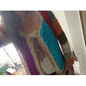 Chaleco Tejido Crochet Nuevo Mujer Hilo Hippie Artesanal