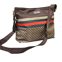 Gucci Hombres De Color Marrón Nylon Sling Messenger Bag 2...