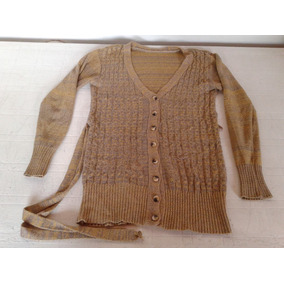 Saquito Sweater Botones Color Ocre Talle M Impecable!
