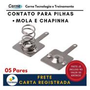 Contato P/ Pilha Mola Chapinha (05 Pares) + Carta Registrada