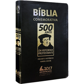Bíblia Comemorativa 500 Anos Reforma Protestante Com Harpa