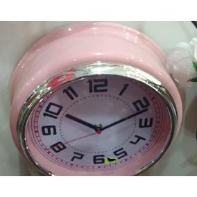 Reloj De Pared Plástico, Varios Colores!