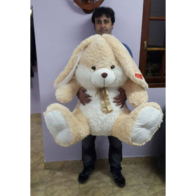 Conejo De Peluche Gigante Con Moño 1.40 Metro En L