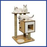 Mueble Interactivo Para Gato V-base Vesper * Envío Gratis