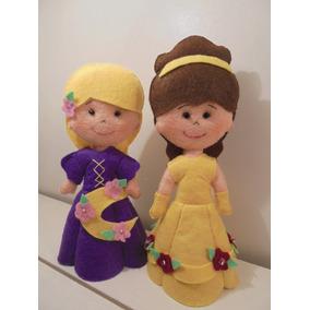 Bonecas Princesas Bela, Ranpunzel Feltro,frete 18,90 Reais