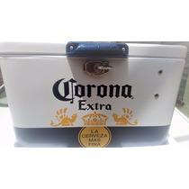 Hielera Metalica De Cerveza Corona Extra Nueva