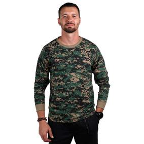Camiseta Manga Longa Camuflado Serra (marpat)