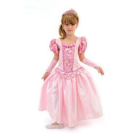 Fantasia Longa Bela Adormecida Princesa Aurora Luxo C/luva