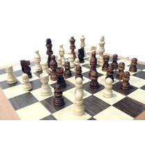 Jogo De Xadrez E Gamão Com Peças Tabuleiro Em Madeira 35x35