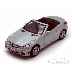 Motor Max 1:24 W/b Mercedes Benz Slk55 Amg Gris Plata