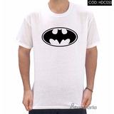 Camiseta Batman Emblema Tradicional Preto E Branco