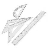 Juego Geometria Regla 20cm Districomp