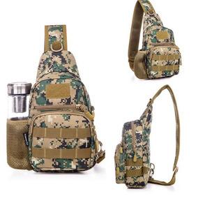 Hombres Militares Tácticos Honda Pecho Pack Bolso Mochila