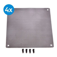 Filtro Ultra Slim Anti Poeira Cooler Fan 140 Mm +4 Parafusos