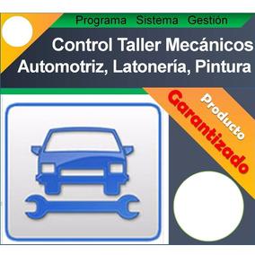 Programa Sistema Control Taller Mecánico Automotriz Carros