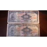 2 Billetes De 1000 Pesos Mexicanos 1973