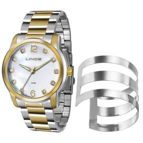 Kit Relógio Lince Feminino Lrt4391l K192b2ks Com Bracelete