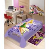 Cobertor + Tapete Jolitex Infantil Sininho Tinker Bell