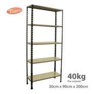 Estanteria Metalica 90x30x200 Tisera Oficina 40kg 209030