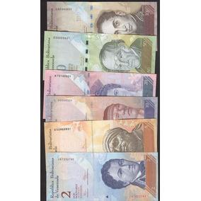 Venezuela Set 6 Billetes 2, 5, 10, 20, 50 Y 100 Bolivares