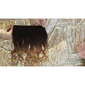 Aplique Tic Tac Cabelo 100% Humano Ombre Hair 2 Peças