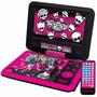 Dvd Portátil Monster High Tectoy Dvt-p3800 Lcd 7 Novo
