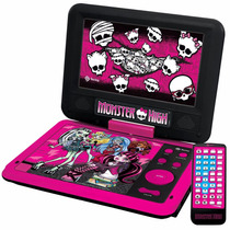 Dvd Portátil Monster High Tectoy Dvt-p3800 Lcd 7 Novo