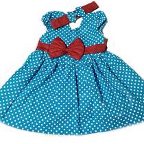 Vestidos Casuais Para Bebe Menina Em Tricoline Com Tiara