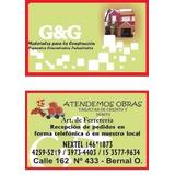 Corralon G&g Cementos, Vigas ,ladrillos ,cal Etc
