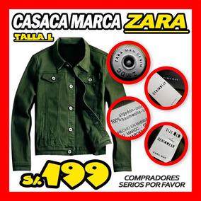 Casaca Verde Militar Marca Zara Ripley Saga Ahora 150