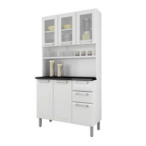 Cozinha Compacta Itatiaia Regina Em Aço 6 Ptas 2 Gav Branca
