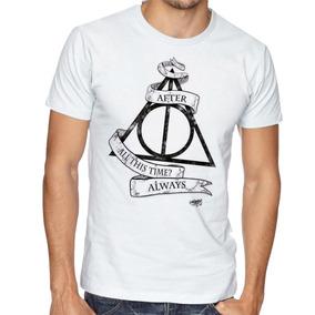Camiseta Camisa Masculina Blusa Harry Potter Reliquias