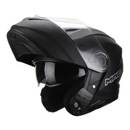 Casco Moto Rebatible Mac Rock Negro Mate Cuotas Devotobikes