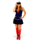 Fantasia Marinheira Vestido Adulto Heat Girls Com Boina