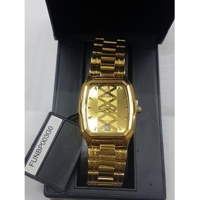 Relógio Orient Feminino Folhado A Ouro Funbp003g0