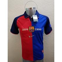 Jersey Playera Barcelona Retro 100 Años Ronaldinho Messi