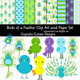 Kit Imprimible Pack Fondos Aves Pavo Real Clipart