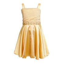 Vestido De Nena Detalle Encaje Con Flores, Brishka N-0057