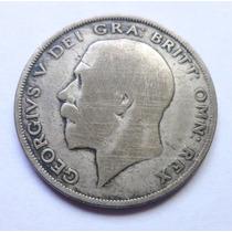 Moneda Plata Gran Bretaña 1/2 Corona 1921- 3c George V