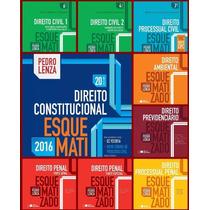 Combo Pedro Lenza Esquematizado 2016 - 10 Livros