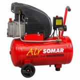 Compressor Ar Air Smi 8,5/25 - 2hp 120l Somar - Schulz 110v