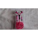 Fone De Ouvido Ziper Microfone E Atende Ligações Rosa Pink