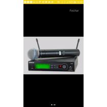 Microfone Shure Sem Fio Slx24 Beta 58 Original Frete Gratis