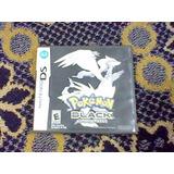 Pokemon Black Negro Version Nintendo Ds Caja Instructivo