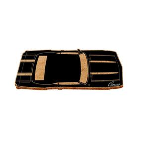 Capacho Fibra Coco/pvc Gm Top View Black Camaro Preto