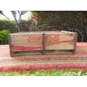 Antiguo Cajon De Coca Cola En Madera Para 12 Botellas