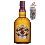 Whisky Chivas Regal 12 Años - 2 Botellas X 1 Lt Con Estuche