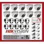 Kit Seguridad Dvr Hikvision 16 Ch+ 10 Domo Exterior Metálica