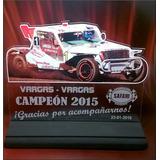 Trofeo Medalla Placa Acrilico Carrera Auto X 15 Cm Foto