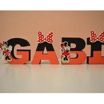 Letras Decorativas 3d Minnie Minie